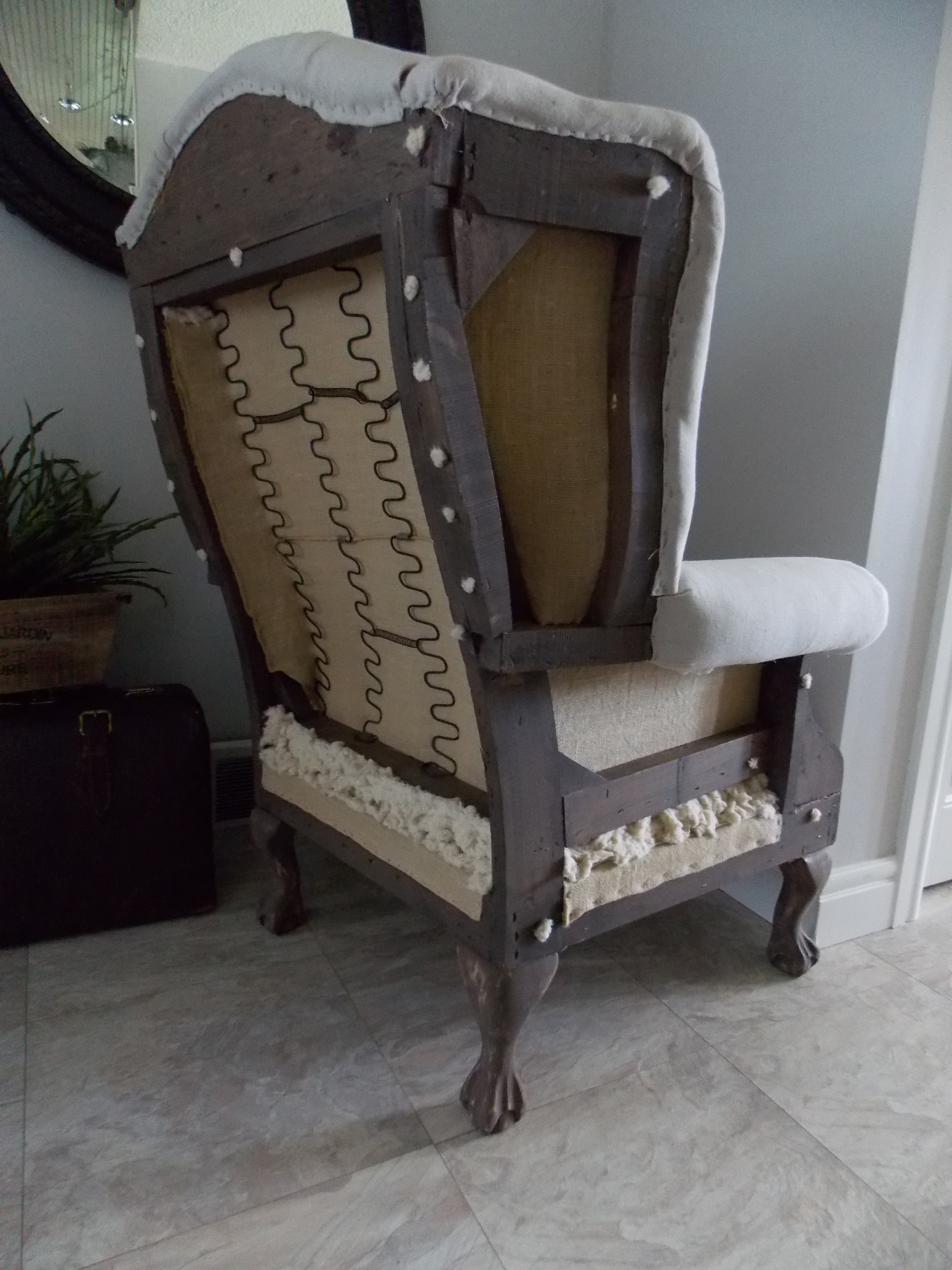 Deconstructed English Wing Back Chair The Making Of