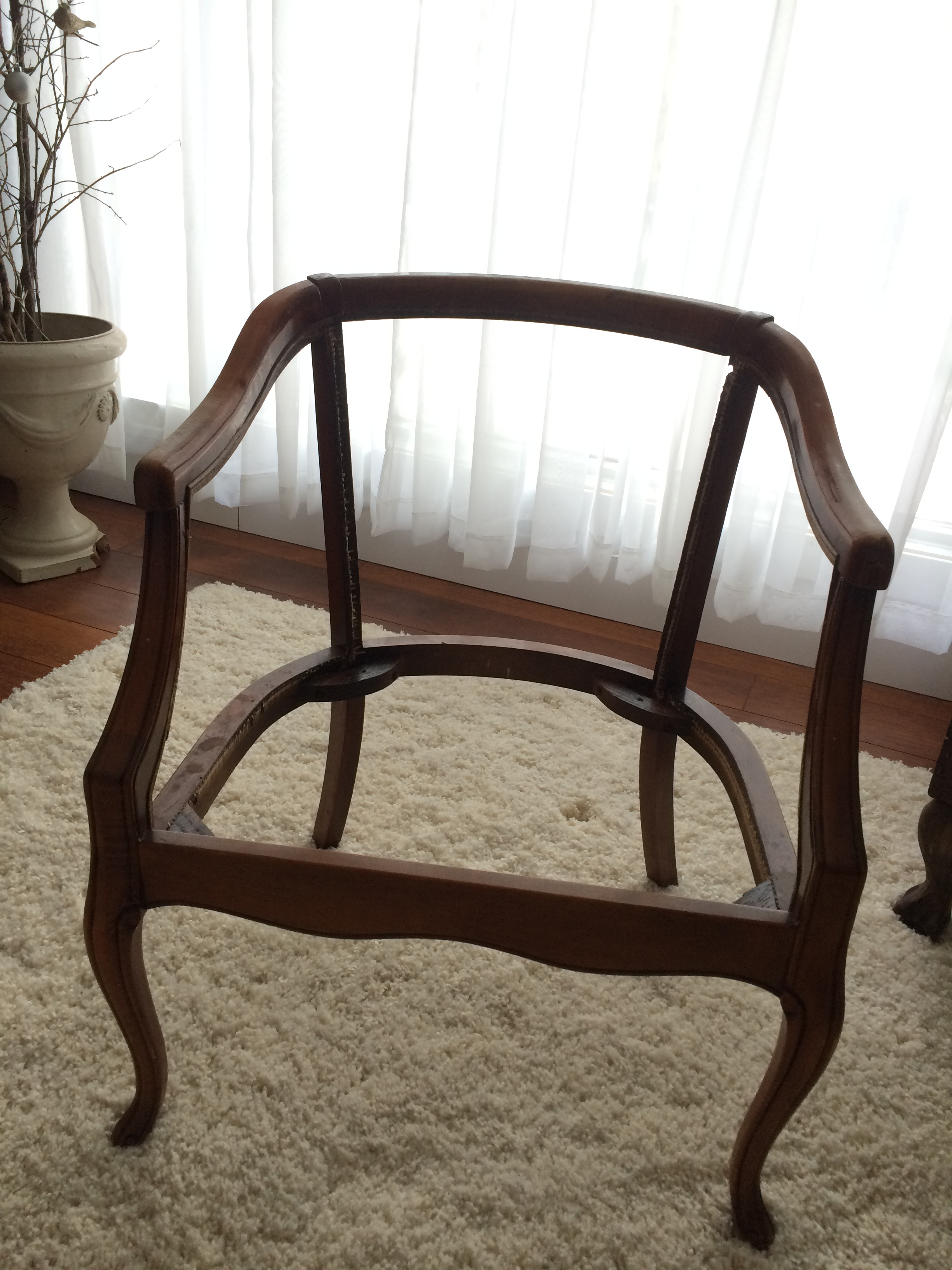 Once The Chair Was Stripped Down To Just The Frame, I Painted It With Milk  Paint In The Color Typewriter. When It Was Dry I Sanded It Smooth Until  Some Of ...