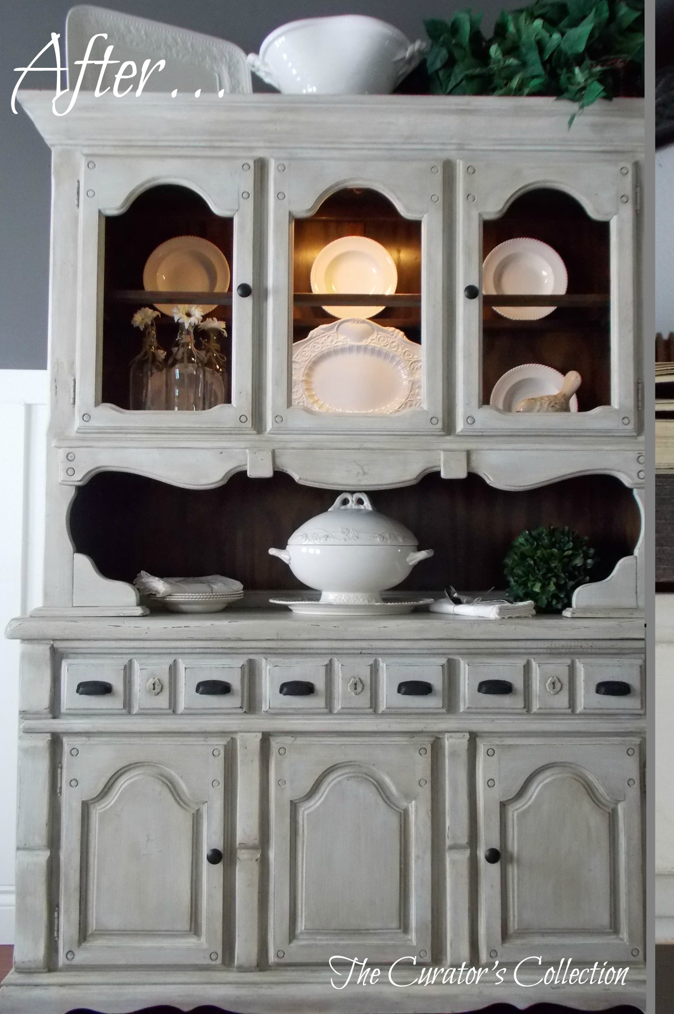 French country china cabinets - China Hutch After2