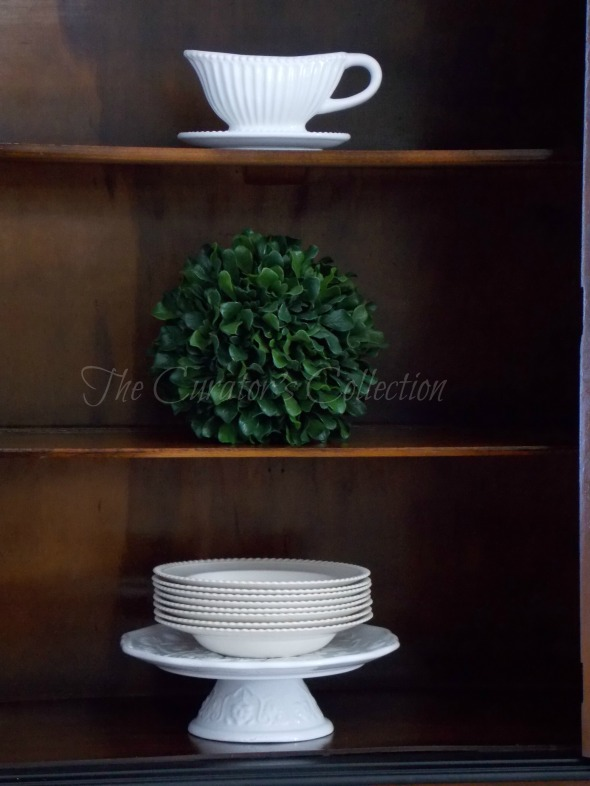 1920's China hutch makeover in typewriter milk paint 054