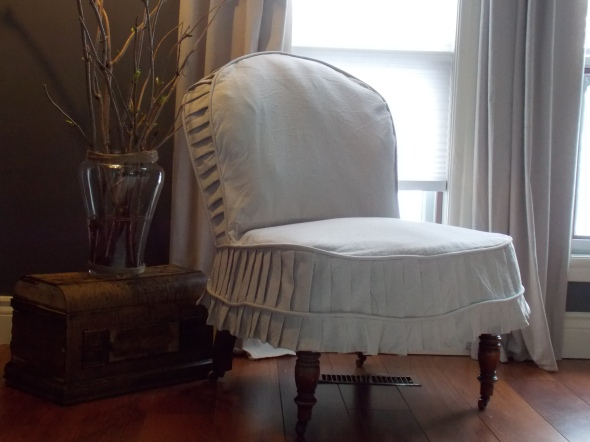 Slpi covered antique chair,desk redo, spring buds 179