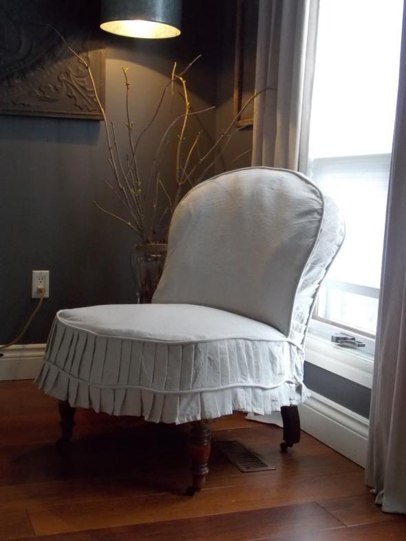 Slpi covered antique chair,desk redo, spring buds 182