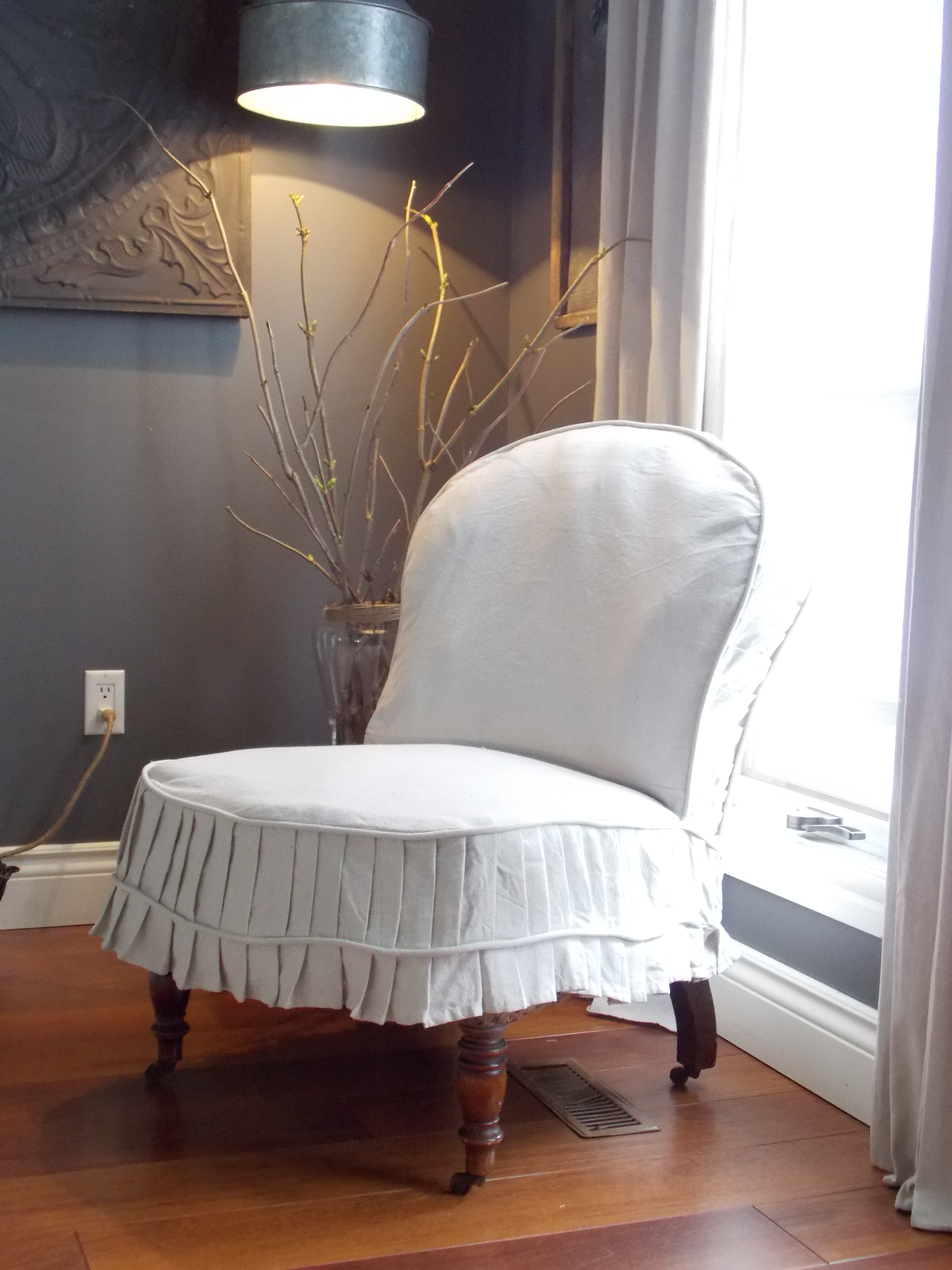 Slpi covered antique chair,desk redo, spring buds 183