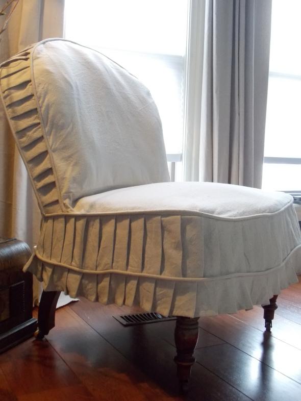Slpi covered antique chair,desk redo, spring buds 199