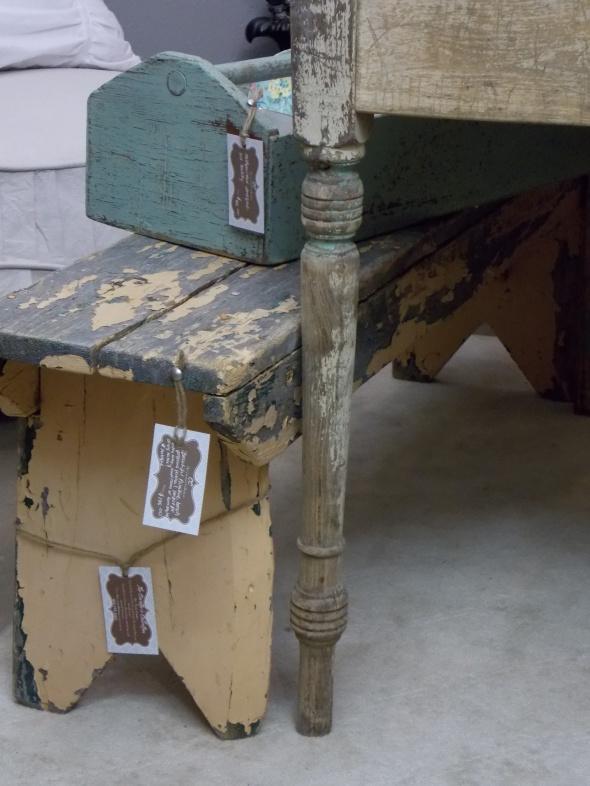 Slpi covered antique chair,desk redo, spring buds 245