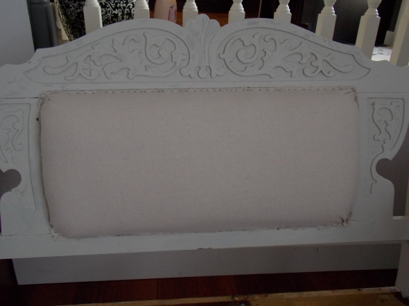 Settee before and during, Sherry's bench makeover 041