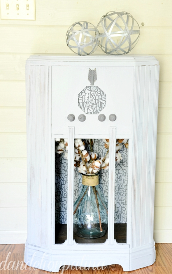 Dandelion Patina farmhouse cabinet