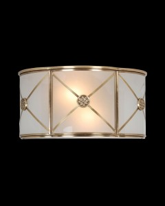 2 light modern brass wall sconce