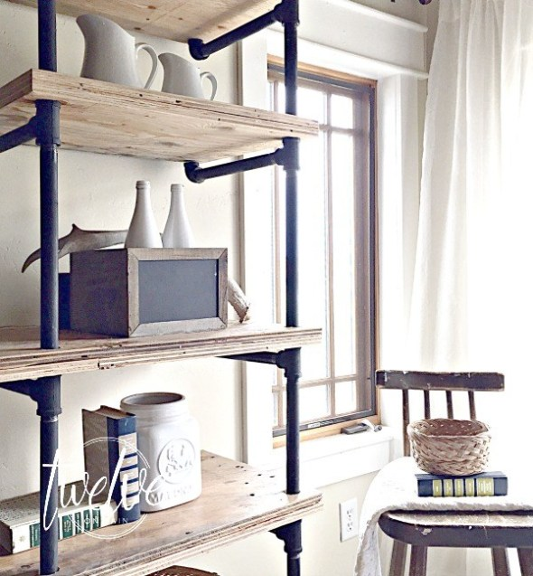 DIY-Industrial-Pipe-shelving