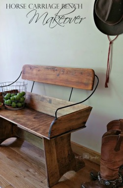 horse carriage bench seat makeover