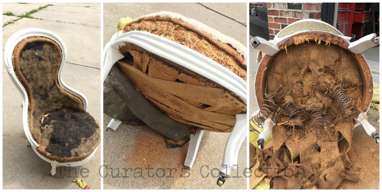 Antique slipper chair - Velvet Parlour Chair 2